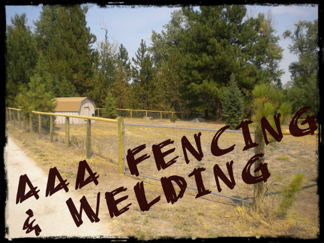 Metal and wood fencing